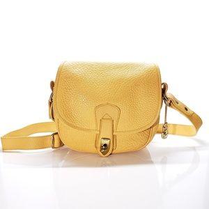 Dooney & Bourke Yellow Pebble Leather Crossbody